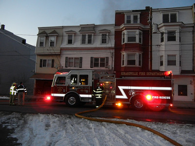 GIRARDVILLE ROWHOME FIRE 2-23-2011 PICTURES AND VIDEOS BY FRANK ANDRUSCAVAGE